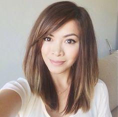 Cut and color Haircuts For Medium Hair, Medium Hair Cuts, Short Hair Cuts, Medium Hair Styles, Short Hair Styles, Hipster Hairstyles, Up Hairstyles, Pretty Hairstyles, Asian Hair Long Bob