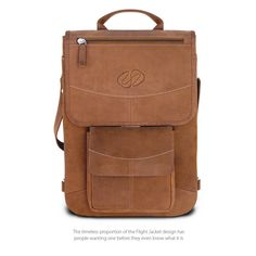 Swatch-Vintage Front View of the MacCase Premium Leather Flight Jacket MacBook Pro Cases Laptop Bags