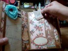 """BasicGrey """"Lucille"""" envelope mini album - scrapbooking mini album - YouTube"""