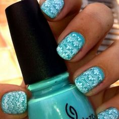 so cute, turquoise nail design #manicure #pretty #glamour #nail #nails #cute #design #color #nailart #art #beauty #turquoise