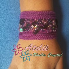 Ateliê Shalla Crystal: PULSEIRA LILAC