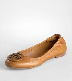Tumbled Leather Reva Ballet Flat   Womens All Revas   ToryBurch.com - StyleSays