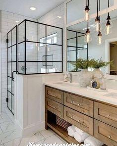 Bathroom Tile Designs, Diy Bathroom Decor, Bathroom Renos, Bathroom Interior Design, Modern Bathroom, White Bathroom, Bathroom Wall, Industrial Bathroom, Minimalist Bathroom