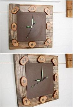 How impressive this wall clock has been designed with the brilliant use of the wood pallet all inside it. This wall clock seems to be much simple and easy in crafting where just the square shaped of the designing has been carried out at the best of all.