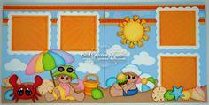 BLJ Graves Studio: Beach Vacation Scrapbook Pages
