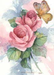 For Decoupage is Super! Decoupage Vintage, Decoupage Paper, Vintage Art, Watercolor Flowers, Watercolor Paintings, Simple Watercolor, Tattoo Watercolor, Watercolor Animals, Watercolor Techniques