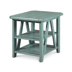 Grand Shores End Table in Light Blue