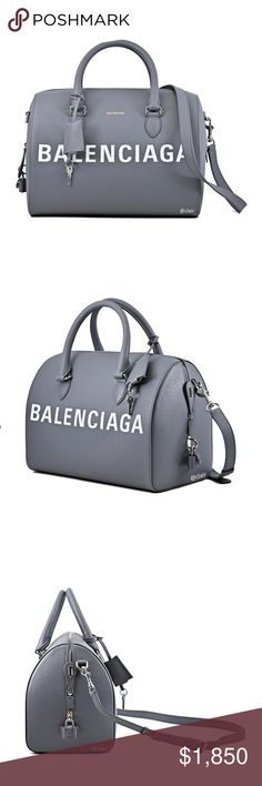 b52f9491d53cc7 Balenciaga Ville Grained-Leather Bowling Satchel SAME DAY SHIPPING (ALL MY  ITEMS ARE IN