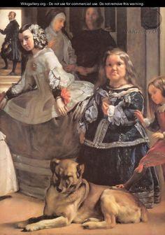 Las Meninas [detail] - Diego Rodriguez de Silva y Velazquez
