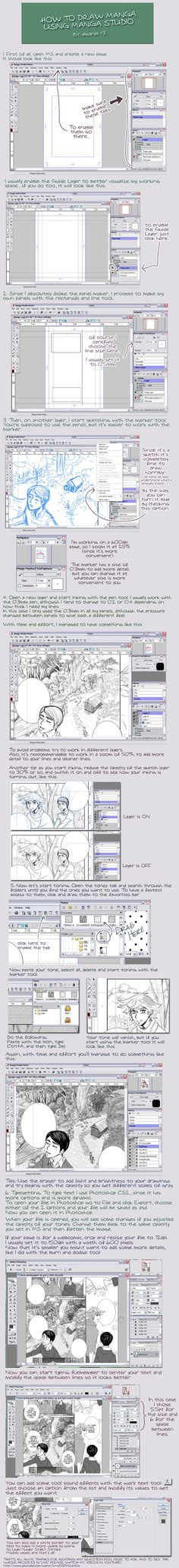 manga studio tutorial by *Heldrad on deviantART