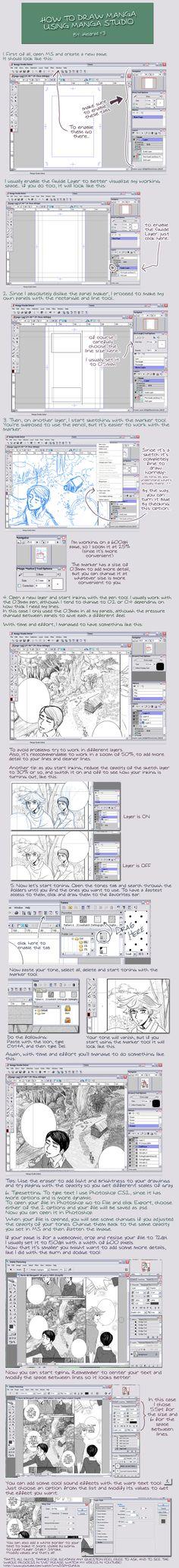 manga studio tutorial by *Heldrad on deviantART