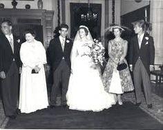 Princess Christina of Hesse married Prince Andrej of Yugoslavia on 2 August 1956 in Schloss Friedrichshof, Kronberg in Taunus, Hessen Darmstadt, Germany. Two children. Queen Victoria Prince Albert, Princess Victoria, Royal Brides, Royal Weddings, Princess Alice Of Battenberg, King Alexander, Greek Royalty, Prince Phillip, Prince And Princess