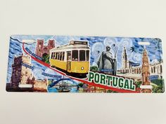 PORTUGAL CITIES Tourism License Plate Cities - Metal Sign Vintage Decor (new) #Unbranded #VintageRetro Plate Wall Decor, Plates On Wall, Duck Egg Blue Wall, Vintage Decor, Retro Vintage, Portugal, Vintage Metal Signs, Tin Signs, Decoration
