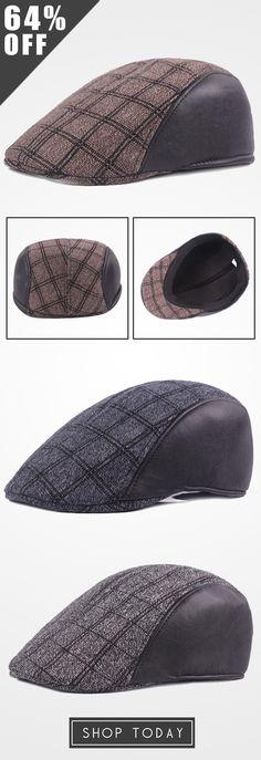 64%OFF&Free shipping. Newsboy Cap, Cabbie Hat, Golf Gentleman Cap, Beret Caps, Patchwork, Vintage, Grid, Casual. Color: Blue, Grey, Coffee. Shop now~
