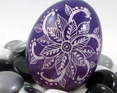 Pysanky, Pisanki, Ukrainian Egg, Polish Easter Egg, Skrobanki, Easter Egg, Ukrainian Easter Egg, Scratched Egg, Pysanky Egg, Purple Mandala