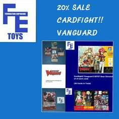 Save 20% On Selected Cardfight Vanguard Trading Cards in our Foundation-Emporium Toys eBay Shop https://goo.gl/z7Vnmo
