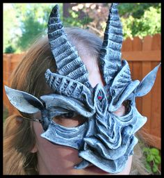 I must be getting into the Halloween spirit. This is one of my hand-sculpted masks- a gargoyle with a faux stone finish. Masks Art, Clay Masks, Spirit Halloween, Halloween Make Up, Halloween Ideas, Gargoyle Costume, Beauty And The Beast Costume, Green Hydrangea, Grey Gardens