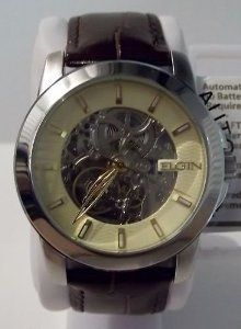 1950s era vintage elgin self winding wrist watch this was part of men s elgin automatic skeleton watch fg7081 elgin 44 00