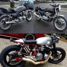 "1,733 curtidas, 21 comentários - SAINT MOTORS Co.™ ☠️ 19⚡13   (@saint_motors) no Instagram: ""Before & after.  #beforeandafter #before&after #instamoto #builtnotbought #stocksucks #ride #bike…"""