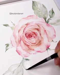 Stunning Artwork🌸 Also, check out Nil-Tech Pencil set by clicking THE WEBSITE LINK By 💫 What a masterpiece!🌺 Comment if you a. Watercolor Flowers Tutorial, Watercolor Video, Watercolor Painting Techniques, Watercolor Rose, Watercolor Illustration, Watercolor Paintings, Painting Videos, Simple Watercolor, Tattoo Watercolor