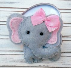 Felt hair ties Felt Elephant Hair Bobble by BOBBLELICIOUS on Etsy