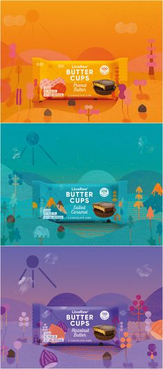 Refreshed Brand Design for Trusted LoveRaw Butter Cups  Brand / Project Name: LoveRaw Butter Cups Location: United Kingdom Project Category: #Snack #food  World Brand & Packaging Design Society