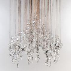 Eva Menz Cascade Lounge Contemporary Chandelier
