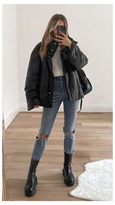 Casual Winter Outfits, Winter Fashion Outfits, Look Fashion, Stylish Outfits, Fall Outfits, Womens Fashion, Mode Für Teenies, Mode Instagram, Looks Street Style