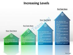 increasing_levels_shown_by_arrows_side_by_side_pointing_upwards_with_shadows_powerpoint_templates_Slide01