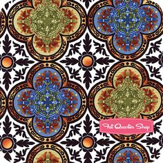 Avalon Multi Quatrefoil Yardage  SKU# 7LCC1   Avalon by Jason Yenter for In the Beginning Fabrics