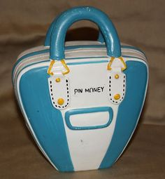 Vintage Lefton Pin Money Bank ~ bowling ball case