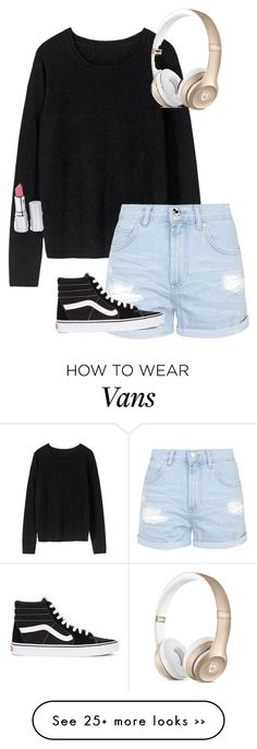 """./......////.////////..."" by anna-mae-equils on Polyvore featuring Topshop, Vans, HoneyBee Gardens, travel and comfy"