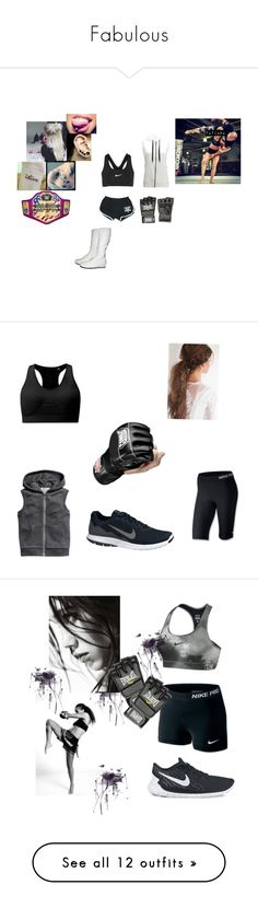 """Fabulous"" by dayne-taylor ❤ liked on Polyvore featuring Striders Edge, NIKE, Everlast, Pieces, Old Navy, Whetstone Cutlery, plus size clothing, Under Armour, Champion and Reebok"