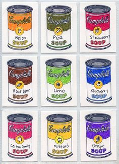 Warhol soup cans:  @Art Projects for Kids