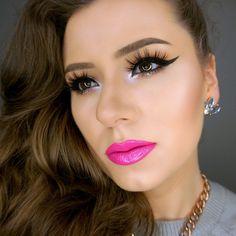 Pink Lips, Red Lips, Beauty Makeup, Hair Makeup, Makeup Inspiration, Septum Ring, Makeup Looks, Fashion Beauty, Make Up