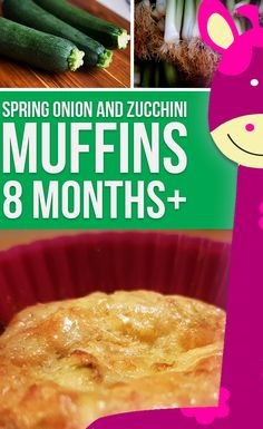 Hear that? It's Muffin O'clock!  So what are you waiting for? Try this  quick and delicious Zucchini Spring Onion Muffins Recipe for Babies (8 months+) | Homemade Baby Food Recipe