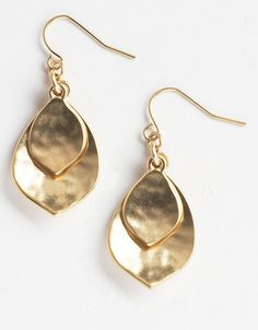 Ralph Lauren hammered gold-tone earrings - Lord and Taylor  1/6/12