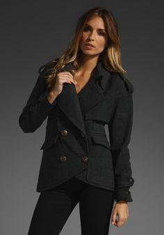 smythe wool mac jacket.