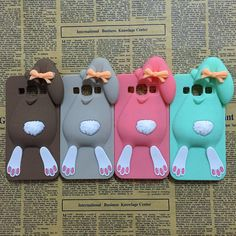 3D Cartoon Bunny Back Cover Case For Samsung Galaxy J3 2015 J300 J3000 & J3 2016 J320 J320F Rabbit Silicon Gell Phone case