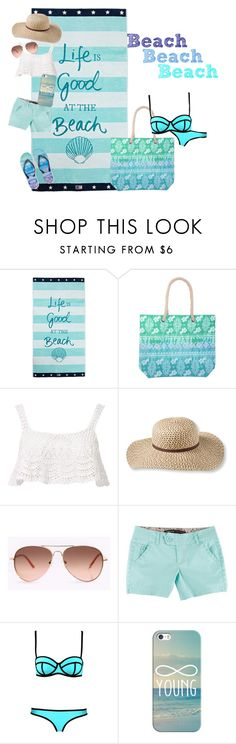 """""""Beach"""" by taradactyl22 on Polyvore featuring Lexington, Beauty & The Beach, L.L.Bean, Casetify and Aéropostale"""