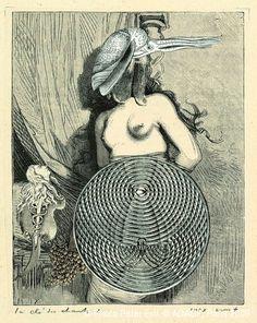 Max Ernst. Collage tiré de Une semaine de bonté. La clé des chants 1 1933 Via RMN.jpg