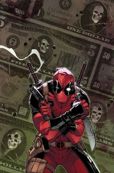 Wade Wilson, better known as Deadpool: the merc who never shuts up (and we love him for it). Artwork by Giuseppe Camuncoli.