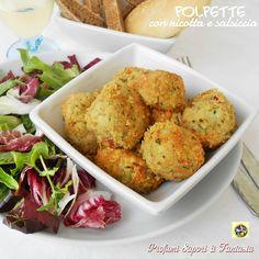 Le polpette con ricotta e salsiccia sono un secondo piatto saporito e sostanzioso anche molto facile da preparare.Servite con insalata mista sono al top