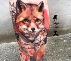 Fox tattoo by Momori Tattoo