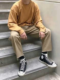 New style casual summer converse 64 ideas Urban Outfits, Retro Outfits, Cool Outfits, Vintage Outfits, Casual Outfits, Men Casual, Look Fashion, Korean Fashion, Mens Fashion