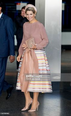 15 September 2017 - Queen Maxima opens SKJ's Youth Professional Congress - skirt by Natan