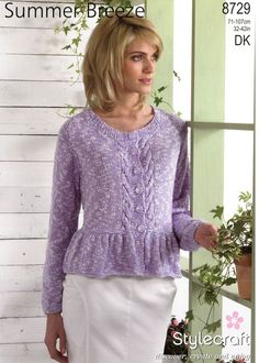 Cardigans in Stylecraft Summer Breeze - 8729. Discover more Patterns by Stylecraft at LoveKnitting. The world's largest range of knitting supplies - we stock patterns, yarn, needles and books from all of your favorite brands.
