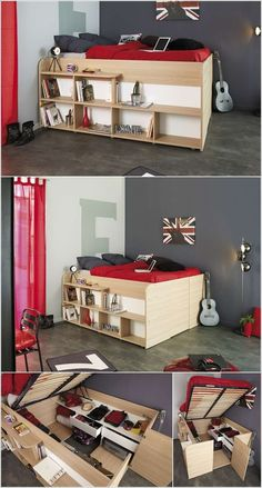 Home Decor: Clever Storage Ideas to Use Bedroom Furniture for Small Spaces Used Bedroom Furniture, Cool Furniture, Furniture Storage, Furniture Sets, Clever Kitchen Storage, Multifunctional Furniture, Furniture For Small Spaces, Bedroom Storage, Repurposed Furniture