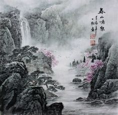 Image result for waterfall drawing