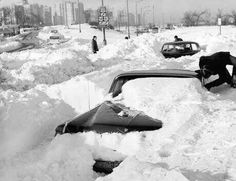 Snowbound Lake Shore Drive ( Tribune archive photo ) Motorists trying to leave snowbound Lake Shore Drive at Foster Avenue in January 1967 got no farther than the exit ramp when the big snow hit Chicago. Chicago Tribune, Chicago Illinois, Chicago Winter, Chicago Storm, San Francisco, Chicago Area, Chicago City, Chicago Skyline, My Kind Of Town